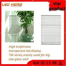 Popular Transparent glass window led display