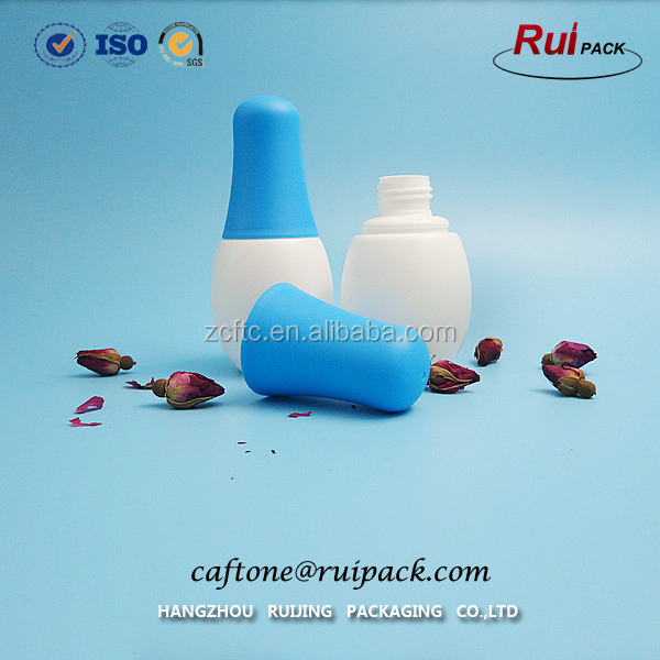 Unique bowling ball bottle shape empty plastic PE bottle