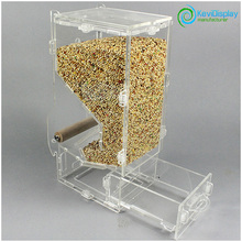 Transparent Acrylic Hanging Bird Feeder In Largel And Single Slot Wholesale