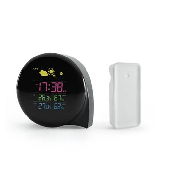 new comma Outdoor Indoor temperature mini weather station