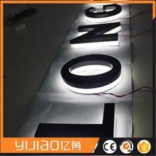 Customized illuminated backlit 3d led sign board light alphabet letter