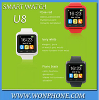 2015 new watch cellphone U8 Smart Bluetooth Wrist Watch Fashion Smartwatch U Watch For All android phone