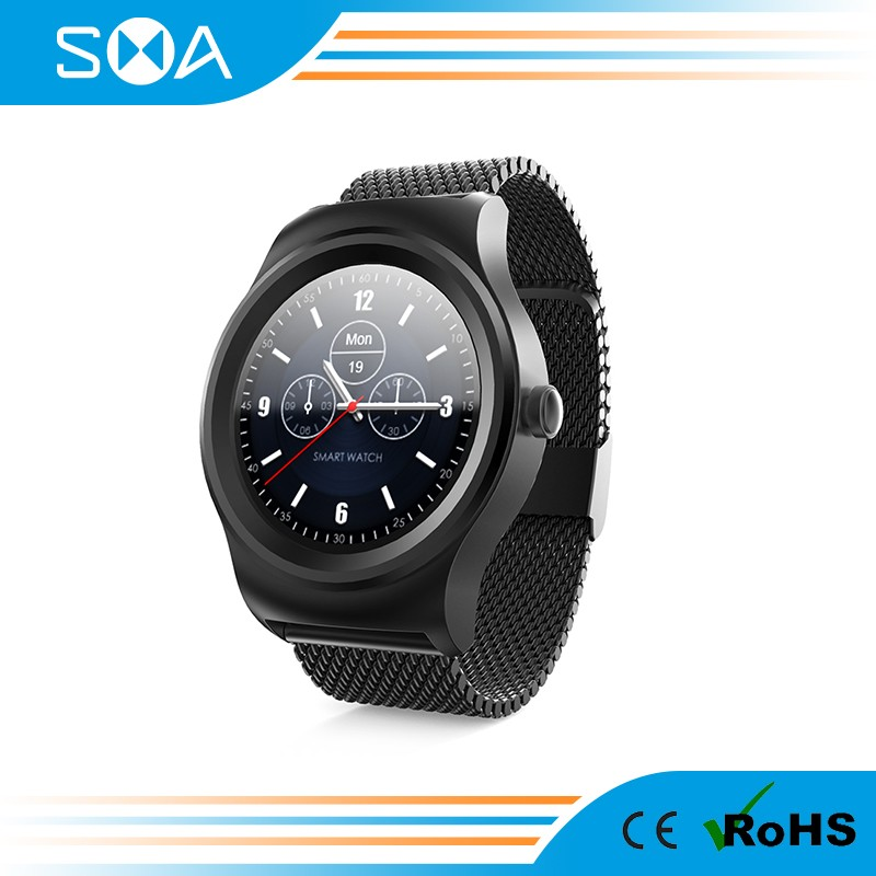 SMA-Q2: Smart watch, Android&iOS, Bluetooth, 3ATM water proof, 40 days standby, Multi-language, Heart rate minitor