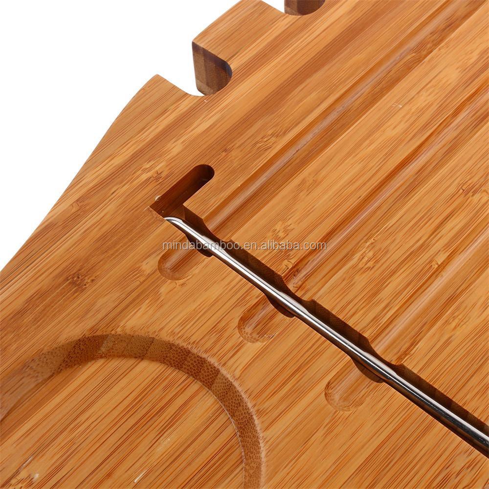 New Bathtub Caddy Bamboo Wood Shower Bath Tub Tray Organizer Bath ...