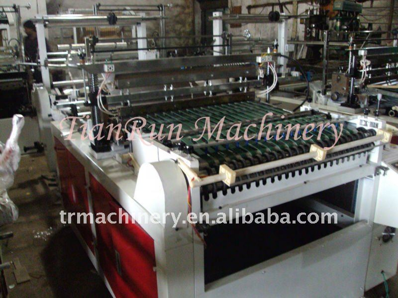 High Speed LDPE Poly Plastic Film Side Sealing Hot Cutting Machine