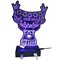 Promotional Acrylic 3D Elk Shaped Sync/Charging 4 Port Light USB Hub with Touch Switch Control