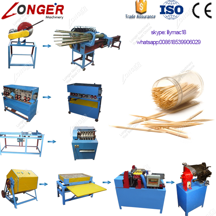 Factory Price Top Quality High Efficient Making Bamboo Toothpick Machine For Sale