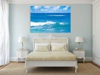 Ready to hang sea landscape canvas painting cheap China