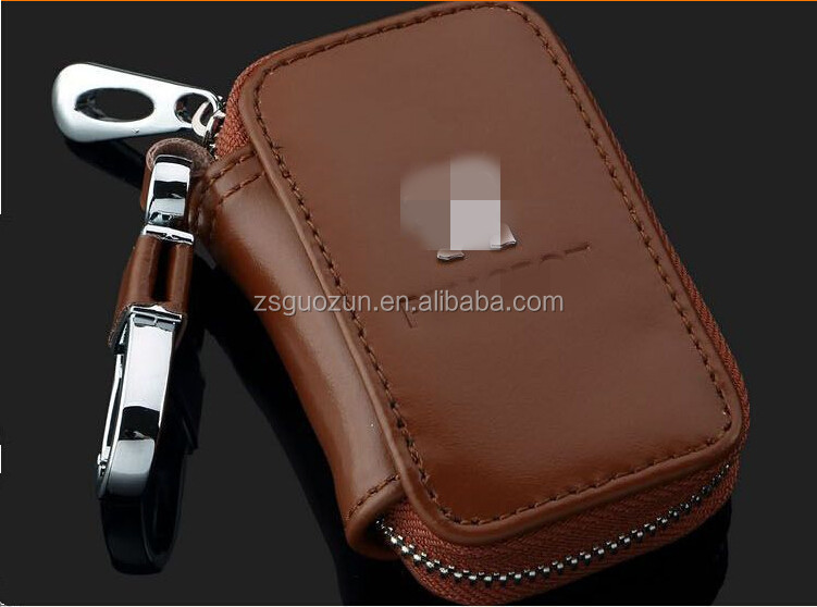 2015 Wholesale car logo leather key case/ key bag /keychain holder with hooks