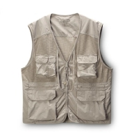 new design mens plain color multi pockets sports fishing vest