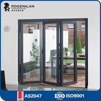 ROGENILAN 75# customized 2.0mm customized indoor soundproof outdoor temporary jakarta folding door