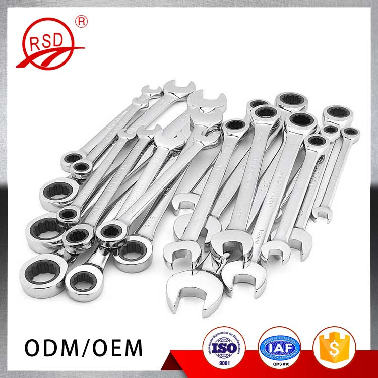 China manufacturer good quality hand tool RSD130 carbon steel drop forged auto tool both sides open end wrench