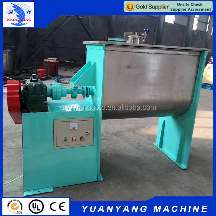 China stainless steel 500L double screw horizontal ribbon mixer for spice and detergent powder