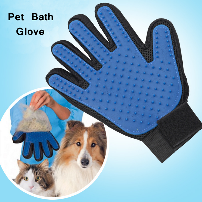 2017 New Hot Sale Pet Bath Glove Silicone Brush Pet Dog Cat Brush For Gentle Pet Grooming Massage Bathing Brush Comb