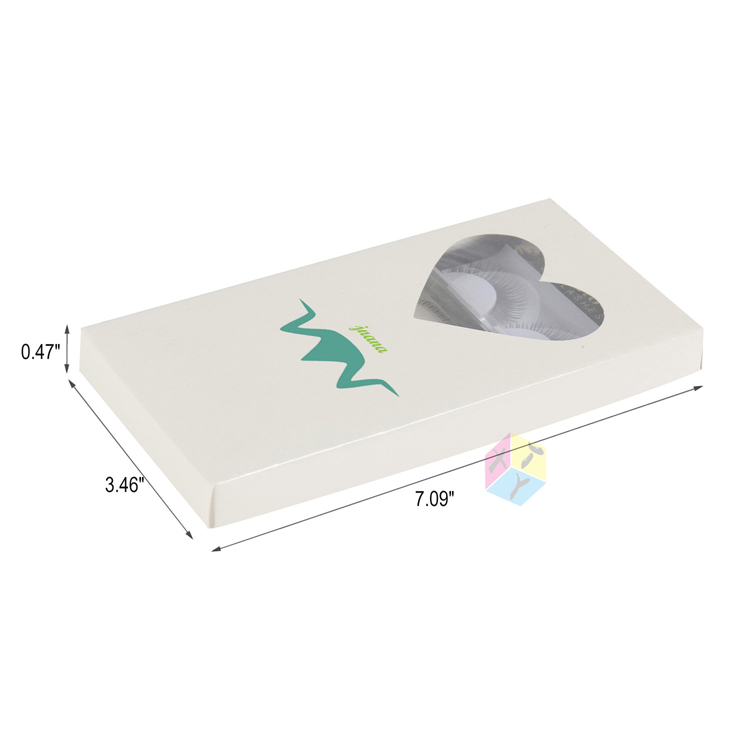 white storage eyelash packaging box luxury