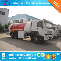 10MT LPG dispensing trucks LPG gas tanker 25,000L