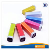 AWC286 promotional gift lipstick universal portable novelty usb charger 2200mah manual for rohs power bank