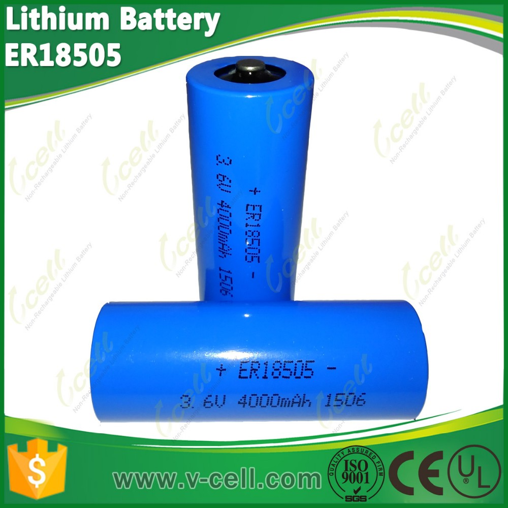 3.6v 4000mah A size energy type Lithium battery ER18505