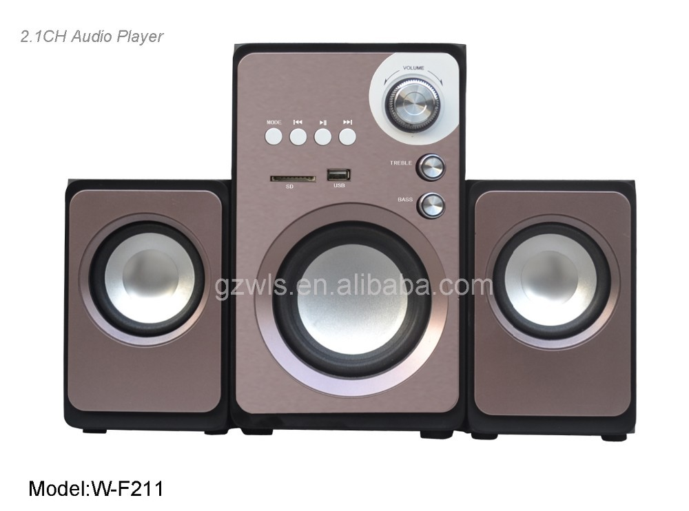 multimedia speaker W- F 211 with USB SD BASS computer audio