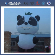 2014 infltable PVC cartoon panda, inflatable air cartoon Kongfu panda for advertising