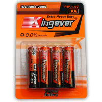 New product advanced power zinc carbonR6 AA dry battery