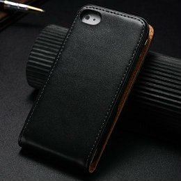 Luxury Phone case for iPhone 4s Smooth Flip Case for iPhone 4 Top flip design free screen protectors as gift each order