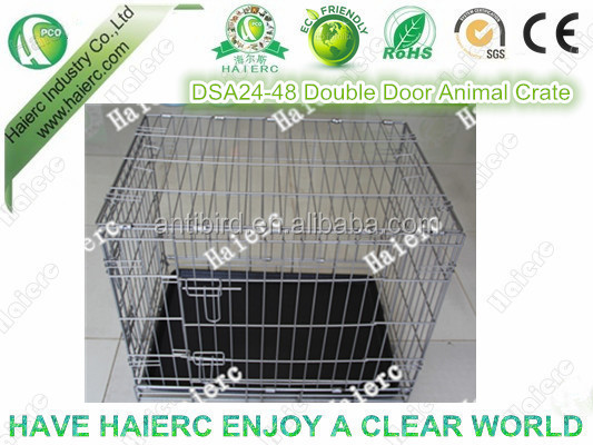 Double Doors Foldable Animal Cage Dog Crate Kennel (DSA42)