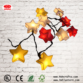 Outdoor led christmas star string lights for decorations