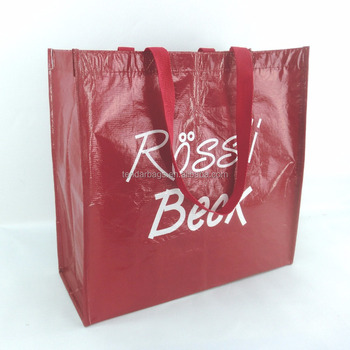 Promotional Print Logo Recycled Woven rpet Shopping Bag