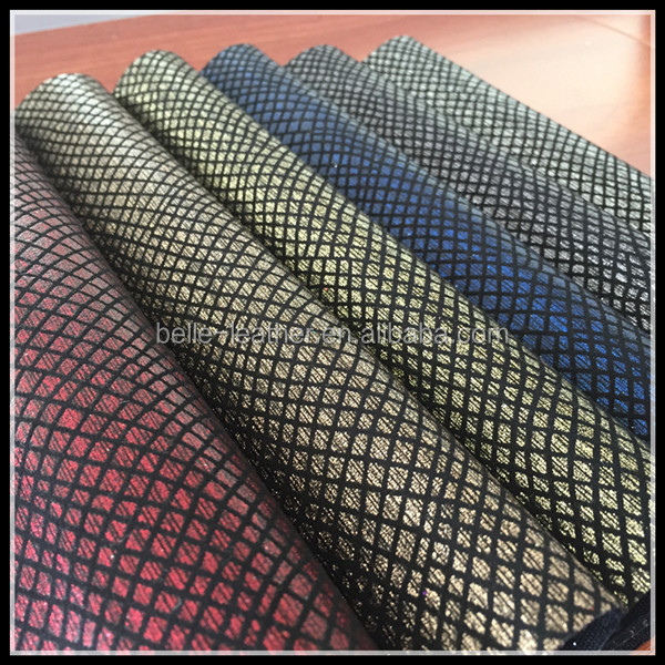 China Glitter Leather For Making Shoes Material