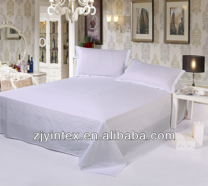 High quality solid color cotton hotel flat sheet