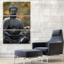 Yes Frame Art Print 3 Panel Buddha Gourp Painting Picture