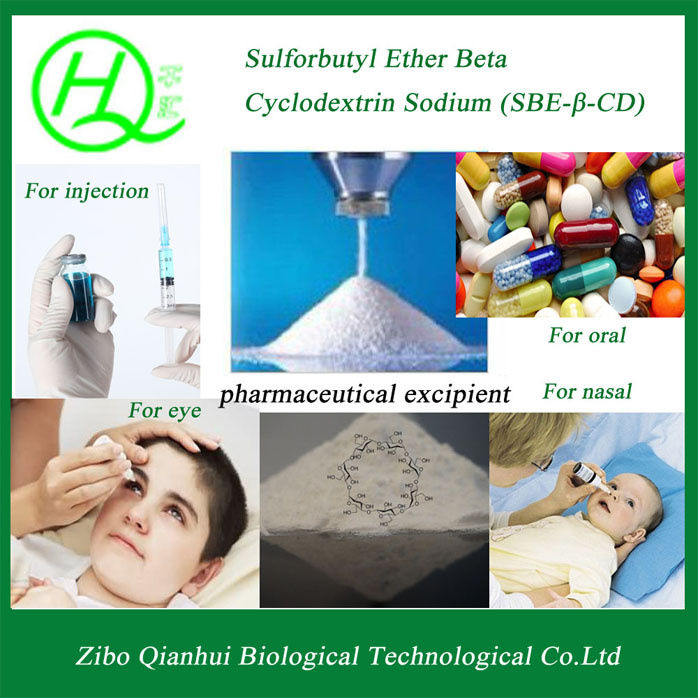 USP standard, Water soluble---Sulfobutyl Ether Beta Cyclodextrin Sodium(SBECD), 182410-00-0, Injection grade