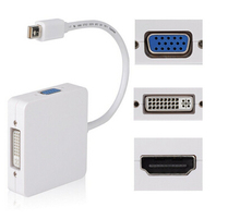3 in 1 Mini DisplayPort DP To VGA /HDMIDVI Adapter Converter Cable 1080P