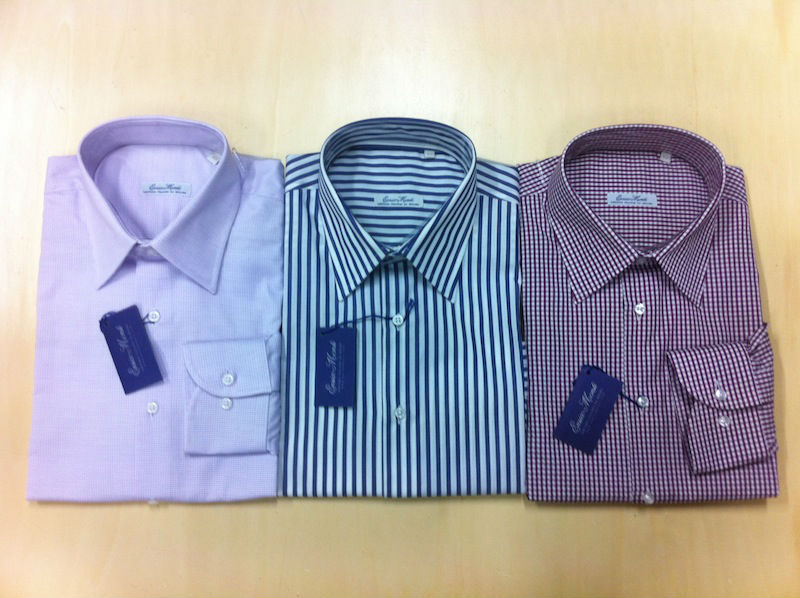 Stock selection 2 ply shirts Made in Italy