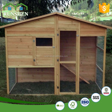 Fujian Hot Sale Plastic Chicken Coop Wooden Pet House With Run Cage