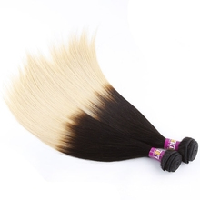 New fashion ombre color two tone hair weft remy indian human hair silky straight with factory price