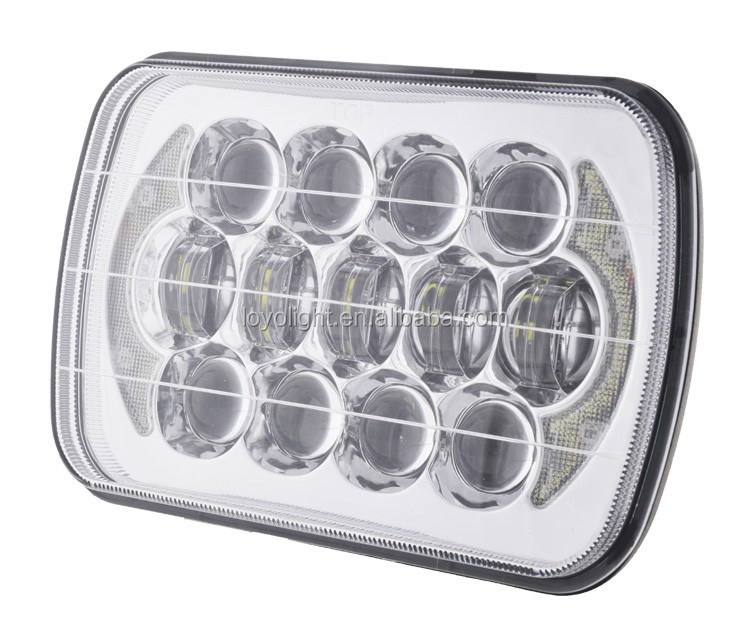 "Hot light! Osram 105w wrangler led angel light head light 7inch 5x7 car led headlight 7"" square"