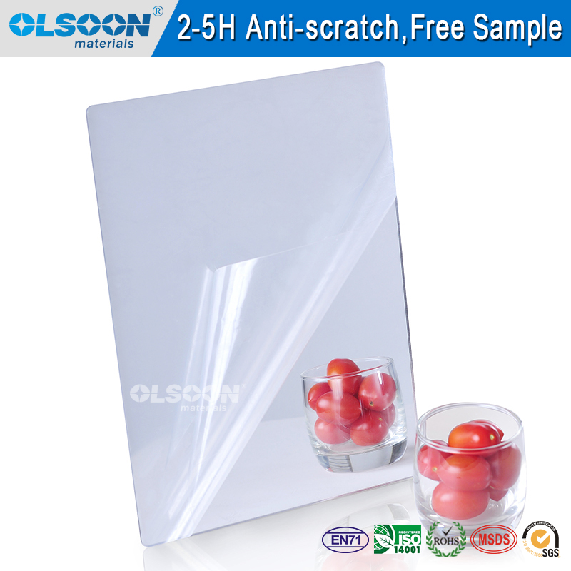 Cheap plastic mirror sheets flexible colored mirror acrylic sheet glitter mirror acrylic