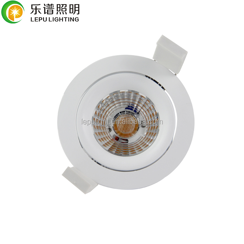 8w led downlight with bridgelux cob led 0-100% dimming warm white 2000k to 2800k CRI>92 Cutout75mm
