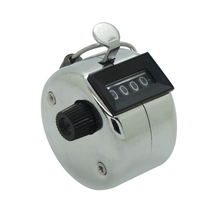Silver Metal Alloy Muslim Tally Counter Mechanical Hand Tally Counter 9999 Times