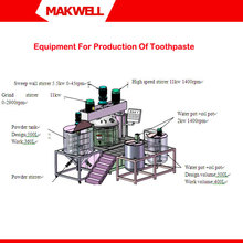 Equipment For Production Of Toothpaste,Toothpaste Manufacturing Process