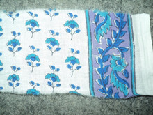 elegant look small motif print patterns on cotton fabric hand block printing
