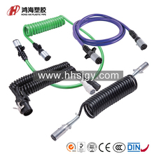 HH-B-30634 7 pin tpu spiral coiled wire cable