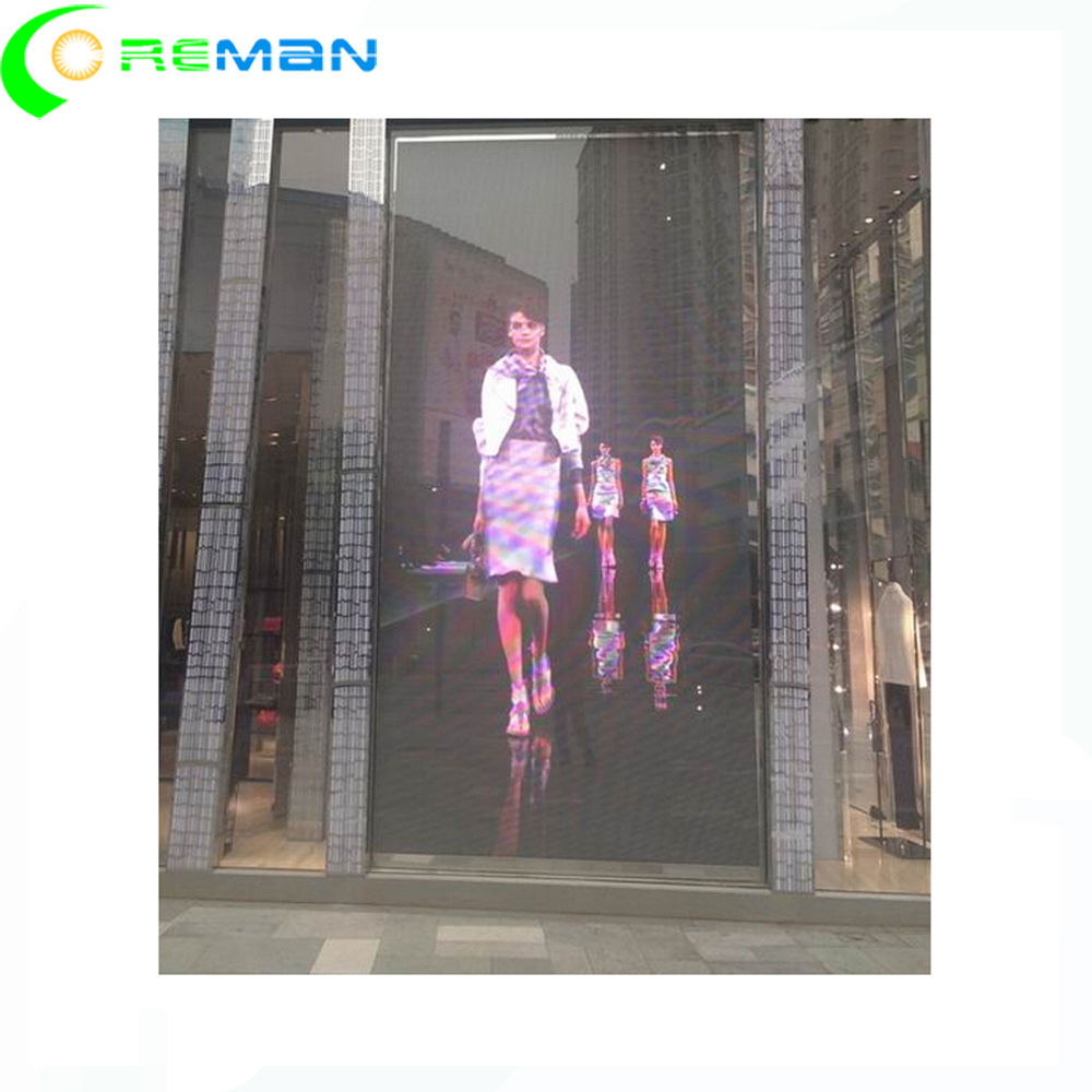 <strong>1000</strong> <strong>x</strong> <strong>1000</strong> <strong>1000</strong> <strong>x</strong> 500 transparent led video panel for window advertising