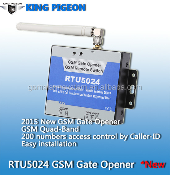 King Pigeon RTU5024 GSM Smart and latest design automatic sliding gate / automatic gate opener / gsm sliding gate operators