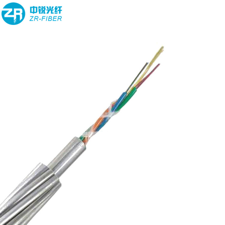 Ground wire 좌초 Loose 관 Cable opgw 36 fibers single mode fiber optic cable price 당 meter