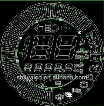 round electric bike lcd display drawing