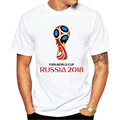 100% cotton The Russian World Cup masco print casual mens o-neck t shirts fashion men's tops men T-shirt short sleeve men tshirt