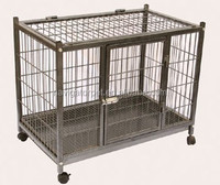 High Duty Metal Dog Cage With 4 Wheels